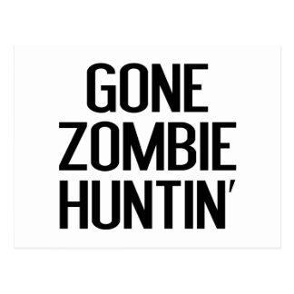 Gone Zombie Huntin' Postcard