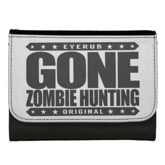 GONE ZOMBIE HUNTING - I'm Post Apocalypse Survivor Leather Wallets