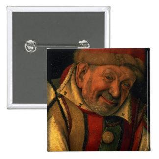 Gonella, el bufón de la corte de Ferrara, c.1445 Pin Cuadrada 5 Cm