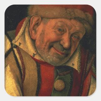 Gonella, the Ferrara court jester, c.1445 Square Sticker