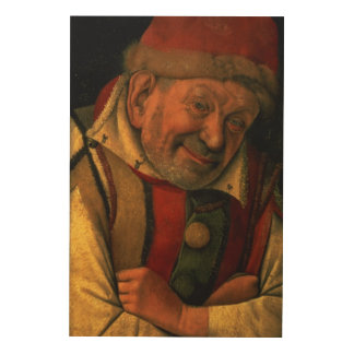 Gonella, the Ferrara court jester, c.1445 Wood Wall Art