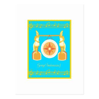 gong postcard
