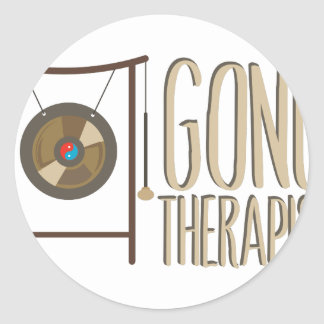 Gong Therapist Classic Round Sticker