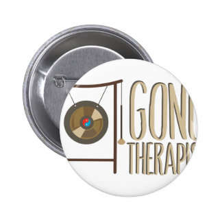 Gong Therapist Pinback Button
