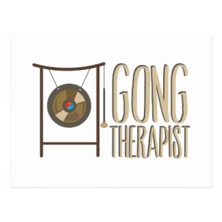 Gong Therapist Postcard
