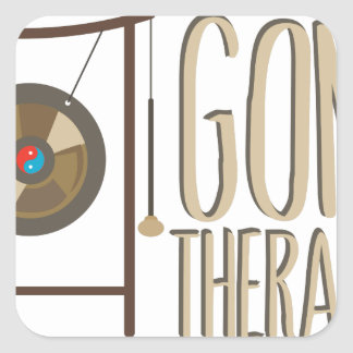 Gong Therapist Square Sticker