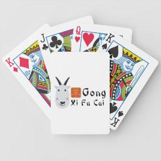 Gong Xi Fa Cai Bicycle Playing Cards