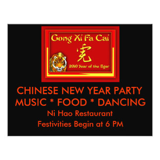 Gong Xi Fa Cai Cards Notecards Greetings Custom Flyer