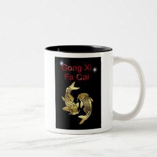 Gong Xi Fa Cai Chinese New Year koi tet Vietnamese Two-Tone Coffee Mug