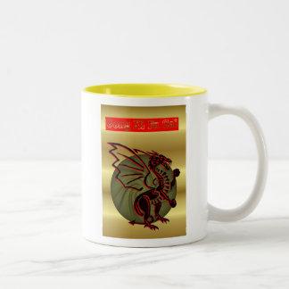 Gong Xi Fa Cai Chinese New Year of the Dragon 2012 Two-Tone Coffee Mug