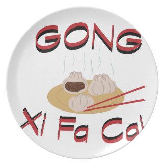 Gong Xi Fa Cai Melamine Plate