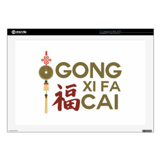 """Gong Xi Fa Cai Wish 17"""" Laptop Skin"""