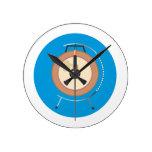 gongo del tam del tam en el soporte around.png azu relojes de pared