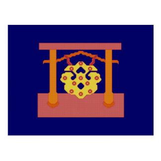 Gongo japonés tarjetas postales