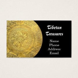 Gongo tibetano del rezo tarjetas de visita