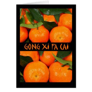 Gongo XI Fa Cai, Año Nuevo chino, mandarín Tarjeta De Felicitación