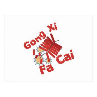 Gongo XI Fa Cai Tarjeta Postal
