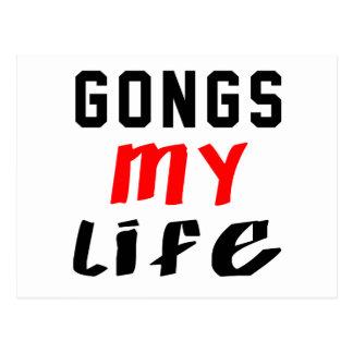 Gongs my life postcard