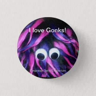 Gonks! novelty button/badge pinback button