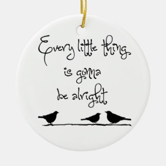 Gonna Be Alright Double-Sided Ceramic Round Christmas Ornament