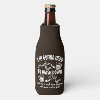 Gonna Need Another Beer Typography Personalized Bottle Cooler
