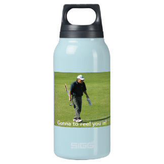 Gonna reel you in! 10 oz insulated SIGG thermos water bottle