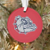 Pewter Christmas Tree Ornament Gonzaga Bulldogs Blue