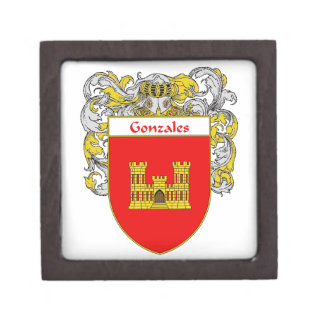 Gonzales Coat of Arms/Family Crest Jewelry Box