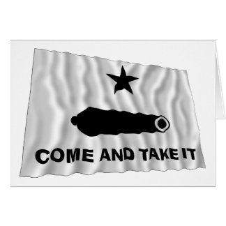 Gonzales Flag Greeting Card