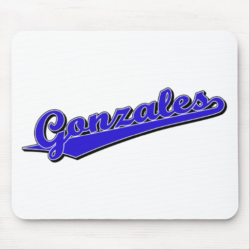 Gonzales in Blue Mouse Pads