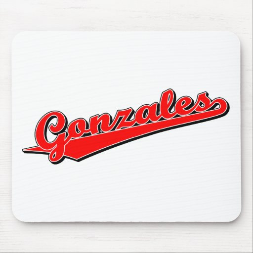 Gonzales in Red Mouse Mat