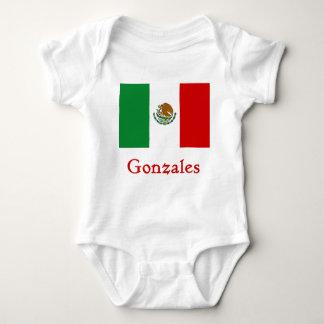 Gonzales Mexican Flag Baby Bodysuit