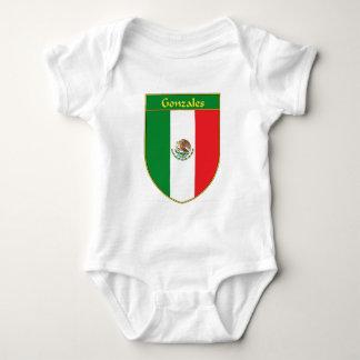 Gonzales Mexico Flag Shield Baby Bodysuit