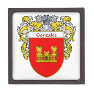 Gonzalez Coat of Arms/Family Crest Jewelry Box