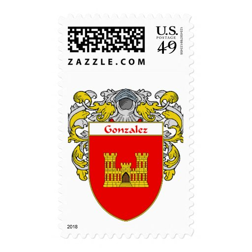 Gonzalez Coat of Arms (Mantled) Stamps