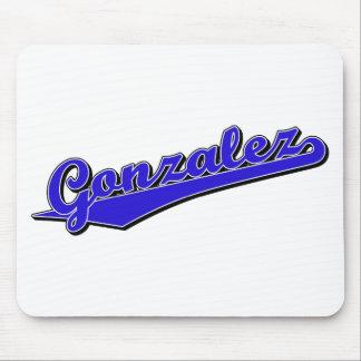 Gonzalez en azul mouse pad