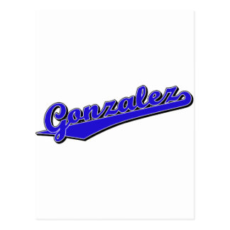 Gonzalez en azul postal