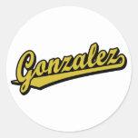Gonzalez en oro etiquetas