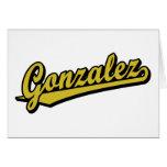 Gonzalez en oro tarjetón