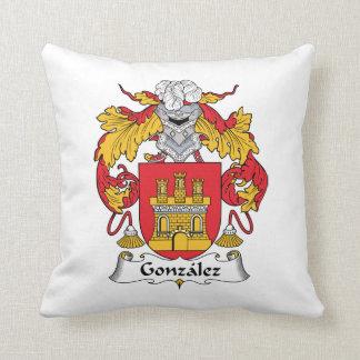 Gonzalez Family Crest Throw Pillow