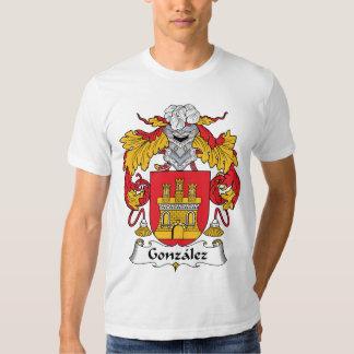 Gonzalez Family Crest Tee Shirts