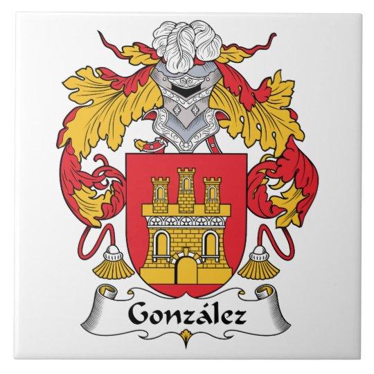 Gonzalez Family Crest Tile Zazzle Com