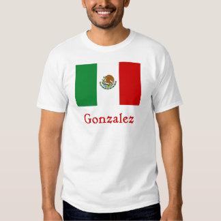 Gonzalez Mexican Flag Tee Shirt