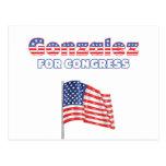 Gonzalez para la bandera americana patriótica Desi Postal