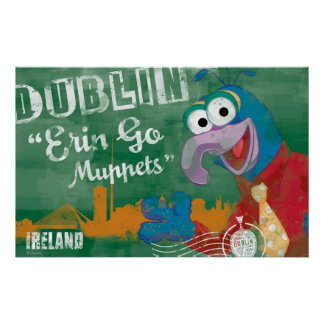 Gonzo - Dublin Ireland Poster Posters
