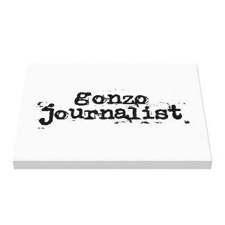 Gonzo Journalist Canvas Print
