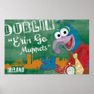 Gonzo - poster de Dublín, Irlanda