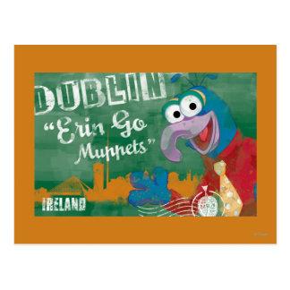 Gonzo - poster de Dublín, Irlanda Tarjetas Postales