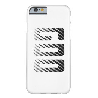 Goo | Black & White Comic Book Halftone Stripes | Barely There iPhone 6 Case