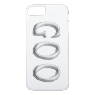 Goo | Clear See Through Gel Font | Customizable iPhone 8/7 Case